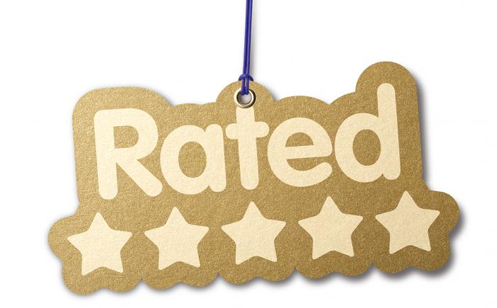 Rated 5 stars in gold letters