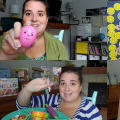 Still shots from four videos featuring Miss Lisa with preschool activities