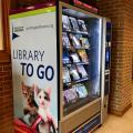 Book vending machine at a community center