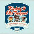 Kickin' It Old School logo featuring Asparagus Fox, Winston Owl and Rocky Raccoon