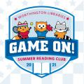 Game On logo featuring Asparagus Fox, Winston Owl and Ricky Raccoon