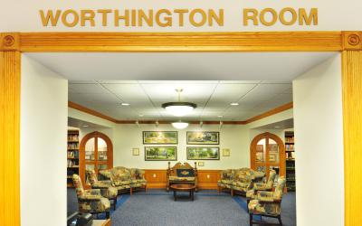 View into the Worthington Room at Old Worthington Library