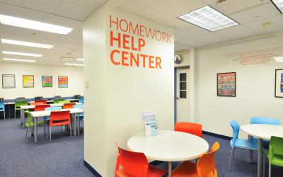 View into the Homework Help Center at Old Worthington Library