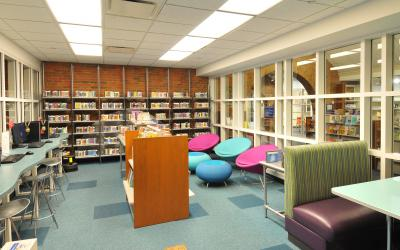 View into the Tween Room at Old Worthington Library