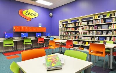 View of teen area at Worthington Park Library