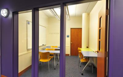 View of study room at Northwest Library