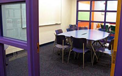 View into the Upstairs Group Study Room
