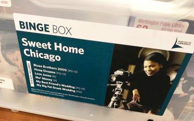 Sweet Home Chicago binge box featuring themed movies