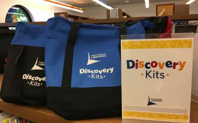 Discovery Kit bags on the shelf