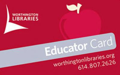 Red Educator Card with apple