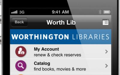 Worth Lib mobile displayed on an iPhone