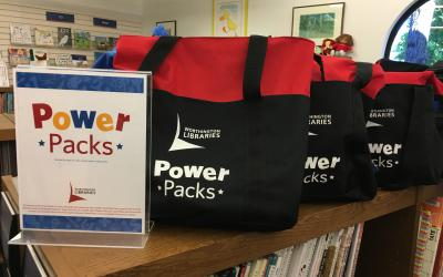 Power Pack bags on the shelves