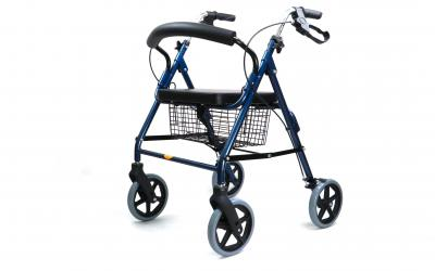 Rollator, also known as wheeled walker or rolling walker