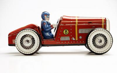Antique toy red car